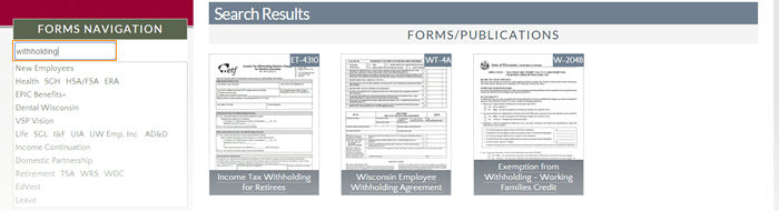 Forms and Publications screenshot